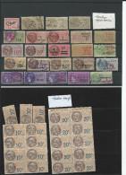 Très Beau Lot De Timbres Fiscaux Pour étude - Revenue Stamps