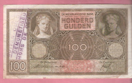 NEDERLAND 100 GULDEN 25.11.1940 BUITEN OMLOOP GESTELD - [2] 1815-… : Kingdom Of The Netherlands