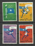 SOMALIA - 1960 OLYMPIC GAMES SET OF 4 MLH *   Sc 248-9 & C73-4 - Somalia (1960-...)