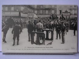 PARIS - GREVE DES CHEMINOTS DU NORD (1910) - REPRODUCTION - 5 - COUR INTERIEURE DE LA GARE DU NORD GARDEE MILITAIREMENT - Métro Parisien, Gares