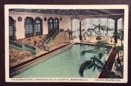 IMPIANTI SPORTIVI -  WASHINGTON.D.C. - THE SHOREHAM HOTEL - CONNENTICUT AVE. CALVERT   - VIAGGIATA 1933 - Natation