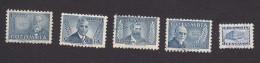 Colombia, Scott #597-601, Used, Osorio, Martinez, Uricoechea. Lombana, Communications Building, Issued 1952 - Colombia