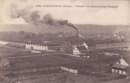 25- AUDINCOURT (DOUBS)-USINES Des AUTOMOBILES PEUGEOT-C.L.B.-Phototypie C.LARDIER,BESANCON-2 TIMBRES,2 CACHETS16/10/191 - Unclassified
