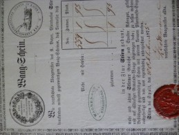 Connaissement En Allemand 1875.Baag Gdjein Der Landwirthscafliche Verein In Bayern - Allemagne
