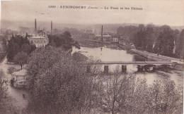 25- AUDINCOURT (DOUBS)-Le PONT Et Les USINES- C.L.B.-TIMBREE- 2 CACHETS - Unclassified