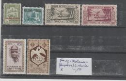 Franz. Kolonien (diverse) 6 Werte * - Frankreich (alte Kolonien Und Herrschaften)