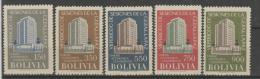 Bolivien/ Mi.Nr. 576-580, Commission Economica America Latina 1957 ** - Bolivia