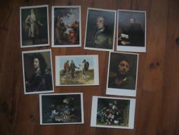 Lot De 9 Cartes         Chefs D'Oeuvre De  Musée                     Toutes Scannées Recto/ Verso - Cartoline