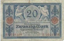 20 Mark Novembre 1915 Serie E Superbe - Sans épinglage - 20 Mark
