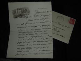 LAS Lettre Autographe Signée Ain 01 Peyrieu GRACE WHITNEY HOFF - De 1933 - Entête Illustrée - Avec Enveloppe - Autographes