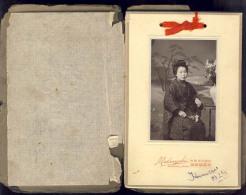 OLD CARDBOARD PHOTO   JAPAN  NAGASAKI   MATSUYUKI     GEISHA - Photographs