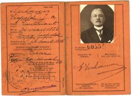 Carte D'Identité Pour Officier Pensionné - Lieutenant Verhoeven - Lierre Lier - & Passport - Documents Historiques