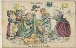 Satirique Judaica Femmes Juives Se Chamaillant A La Fontaine Scene Algerienne Par Assus Bouledogue - Otros