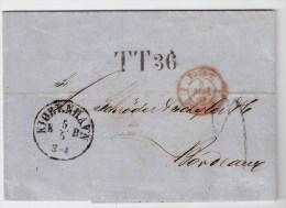 "1863, Hamburger Transit-L1,  "" TT36 "" , Feuser € 100.- ,  S439 - Hamburg"