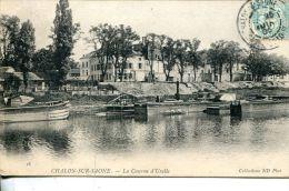 N°40786 -cpa Chalon Sur Saone -la Caserne D'Uxelle- - Chalon Sur Saone