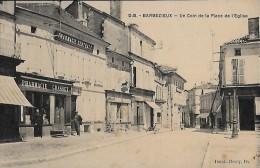 CARTE POSTALE ORIGINALE ANCIENNE : BARBEZIEUX ; PLACE DE L'EGLISE ; PHARMACIE CENTRALE GRASSET ; ANIMEE ; CHARENTE (16) - Autres Communes