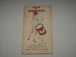 RARE LIVRE CATALOGUE 1926 EO SALON DES HUMORISTES Humour 130p 1582 Dessin Inédit Dt Illustré NU CARICATURE Satirique - Arte