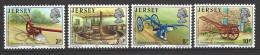 JERSEY - Mi-Nr. 114 - 117 Geräte Des 19. Jahrhunderts Aus Dem Landwirtschaftsmuseum Postfrisch - Landwirtschaft