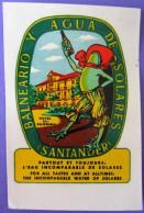 HOTEL RESIDENCIA PENSION HOSTAL CAMPING SOLARES SANTANDER SPAIN LUGGAGE LABEL ETIQUETTE AUFKLEBER DECAL STICKER MADRID - Hotel Labels