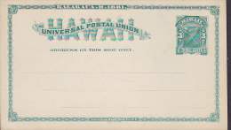 Hawaii UPU Universal Postal Union Postal Stationery Ganzsache Entier 3 Cents Unused (2 Scans) - Hawaii
