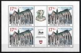 Czech Republic 2004. Stamp Exhibition - Buildaings Nice Sheet MNH (**) - Blokken & Velletjes