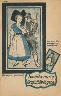 Bevolkerung Elsa Lothringens- Alsacienne Et Soldat Allemand - France