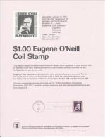 USA 1973, Scott # SP 297. $1.00 Eugene O'Neil - First Day Covers (FDCs)