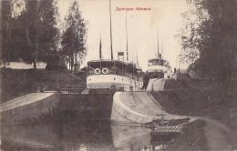 Finlande - Suomi - Russia - Bâteaux Vapeur Ecluses - Saimaan Kanava /Kanal Saima - Postmarked Russia Biarritz 1908 - Finland