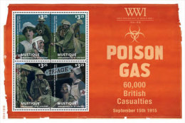 Mustique Grenadines Of St. Vincent-2014-War-WWI-Worl D War One - St.Vincent Y Las Granadinas