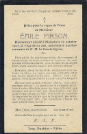 MAISSIN ..-- Mr Emile PIRSON , Né En 1844 , Décédé En 1907 . - Images Religieuses