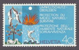 Helvetia / Switzerland 1972 - Protection Du Milieu Naturel-survivre, Protezione Ambiente Naturale, Nature Protection MNH - Schweiz