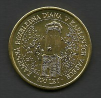 Czech Republic, Karlovy Vary, Diana 100 Years, Souvenir Jeton - Jetons & Médailles