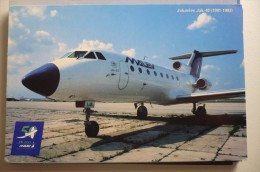 AIRLINES ISSUE / CARTE COMPAGNIE      MALEV   YAK 40 - 1946-....: Moderne