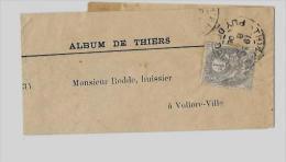 63 – PUY DE DÔME  « THIERS »Ecrits Périodiques Non Routés 1er Ech. (50gr.)en Rayon Limitrophe - Tarif - 1900-29 Blanc
