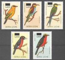 Sierra Leone (2008) Yv. 4207/11  /  Fauna - Birds - Oiseaux - Vogel  (Rare Overprint !!) - Vogels