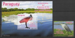 Paraguay (2013) Yv. 3115 + Bf. 43  /  Birds - Oiseaux - Aves - Vogel - Andere