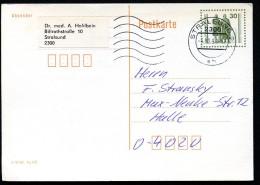 DDR P107 I Postkarte Bedarf Stralsund-Halle 4.10.90 - [6] République Démocratique