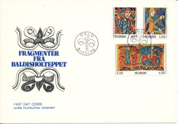 Norway FDC 5-11-1976 Christmas Stamps Baldisholcarpet With Cachet - FDC