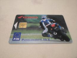 FINLAND - RARE phonecard Honda Motorcycle