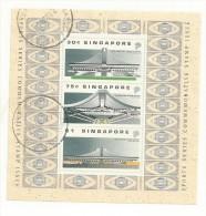 SINGAPOUR BLOC N° 23 OBLITERE    NOUVEAU STADE COUVERT DE SINGAPOUR - Singapour (1959-...)