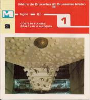 METRO DE BRUXELLES - BRUSSELSE METRO - COMTE DE FLANDRE - GRAAF VAN VLAANDEREN - Ligne - Lijn 1 (dépliant Bilingue N° 31 - Unclassified