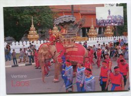 LAOS - AK 209579 Vientiane - The Celebration Parade Of  King Fa Ngum The Great - Laos