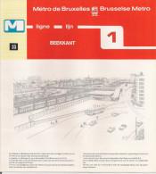 METRO DE BRUXELLES - BRUSSELSE METRO - BEEKKANT- Ligne - Lijn 1 (dépliant Bilingue N° 33) - Unclassified