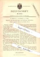 Original Patent - R. Grischau In Kandrzin B. Cosel / Kedzierzyn-Kozle , 1883 , Apparat Für Schienen , Eisenbahn !!! - Documents Historiques