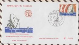 FDC 770 FDC ENVELOPPE 1ER JOUR 1973 DAKAR SENEGAL STATION DE GANDOUL - Senegal (1960-...)