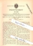 Original Patent -T. Kruczkowski In Barloschno / Barlozno B. Skurz / Skórcz , 1884 , Apparat Mit Gregorianischen Kalender - Antike Uhren