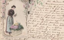 A. MULLER - LA FLEURISTE - Carte Pionnière Bon état - Illustrateurs & Photographes