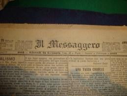 IL MESSAGGERO Quotidiano Di Roma Giovedì 25 Luglio 1883 Anno V Redazione Via Del Bufalo 125 Roma - Books, Magazines, Comics