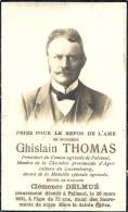 PALISEUL ..-- Mr Ghislain THOMAS , époux De Mme Clémence DELMUE , Né En 1859 , Décédé En 1931 . - Images Religieuses