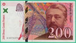 France - 200 Francs - Eiffel - N° H 057827697 - 1997 - TTB - 200 F 1995-1999 ''Eiffel''